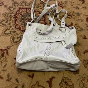 b makowsky handbags grey